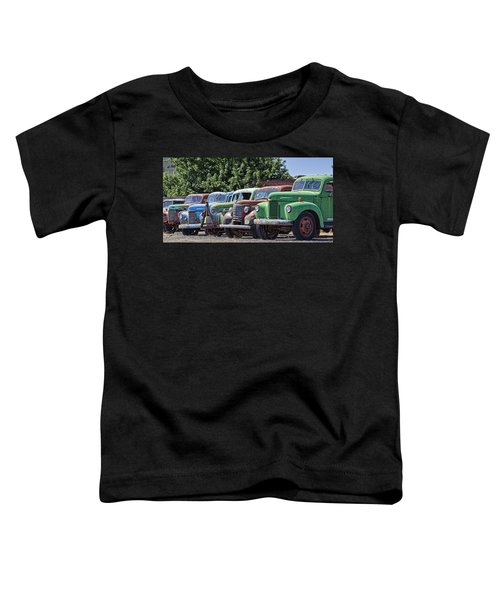 Colorful Old Rusty Cars Toddler T-Shirt