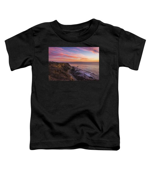 Colorful Sunset At Golden Cove Toddler T-Shirt