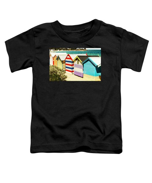 Colourful Bathing Sheds Toddler T-Shirt