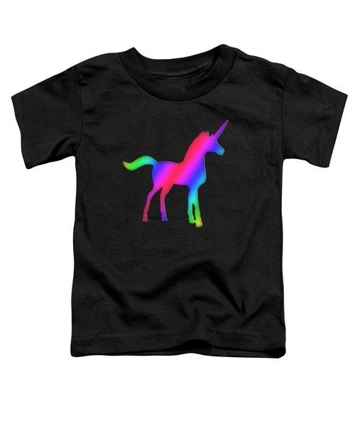 Colourful Unicorn  Toddler T-Shirt by Ilan Rosen