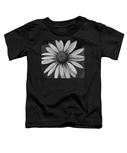 Coneflower In Black And White Toddler T-Shirt