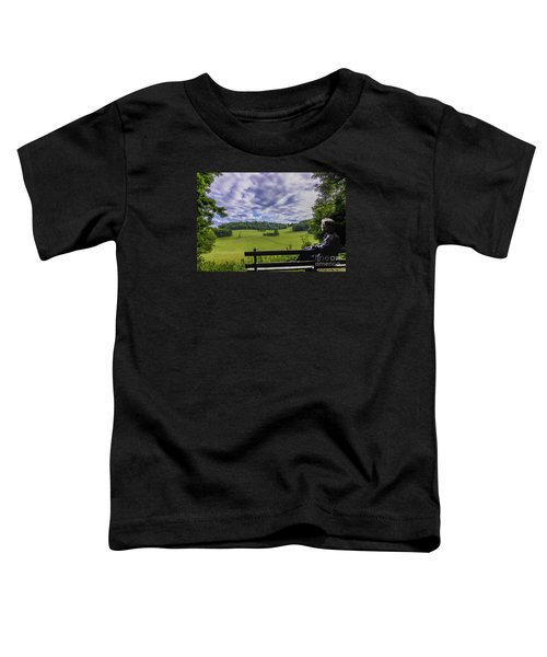Contemplating The Beautiful Scenery Toddler T-Shirt
