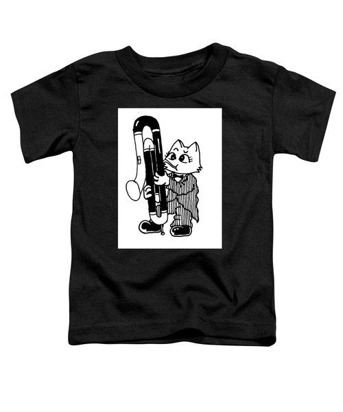 Contra Bassoon Cat Toddler T-Shirt