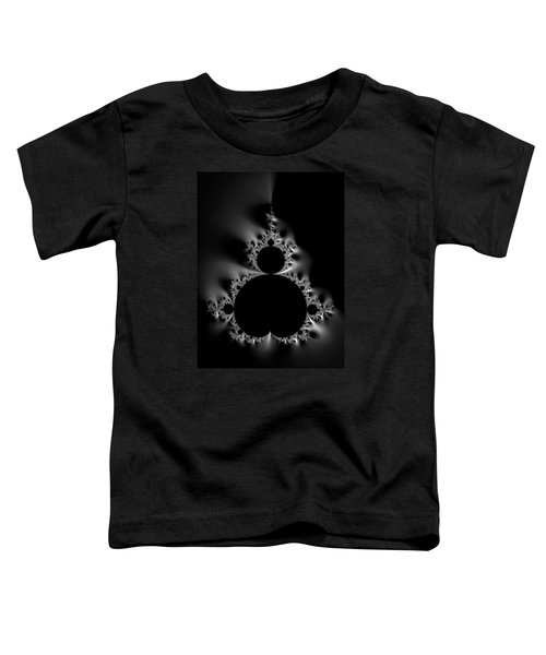 Cool Black And White Mandelbrot Set Toddler T-Shirt by Matthias Hauser