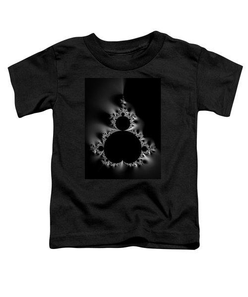 Cool Black And White Mandelbrot Set Toddler T-Shirt