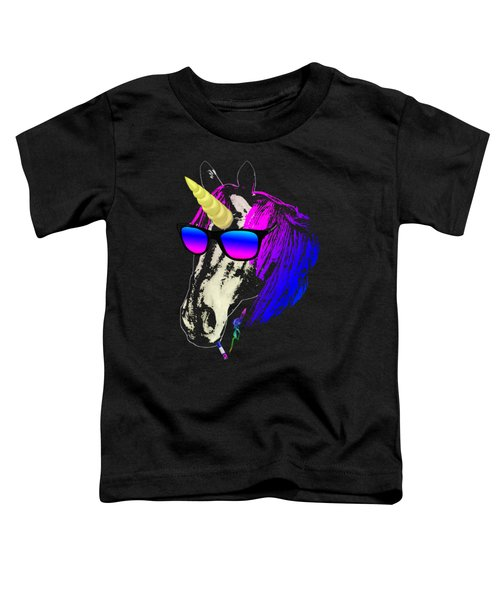 Cool Unicorn With Sunglasses Toddler T-Shirt