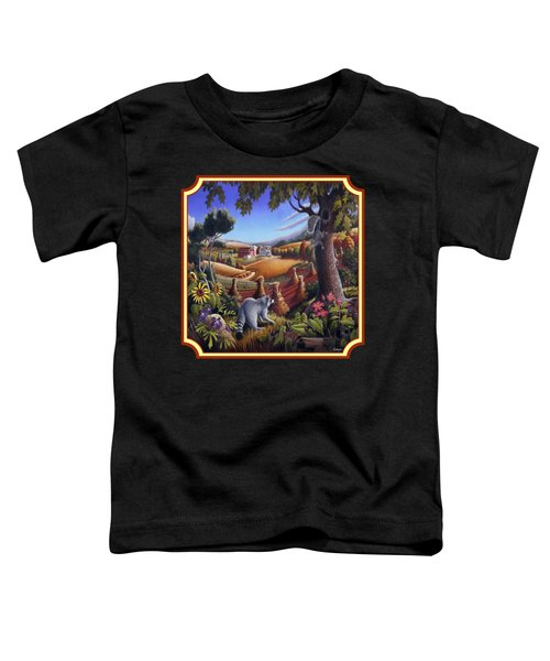 Coon Gap Holler Country Landscape - Square Format Toddler T-Shirt by Walt Curlee