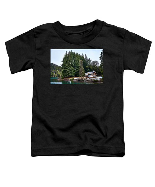Little Cottage And Pines In The Argentine Patagonia Toddler T-Shirt