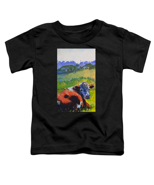 Cow Lying Down On A Sunny Day Toddler T-Shirt