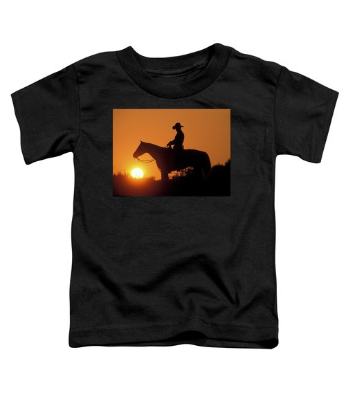 Cowboy Sunset Silhouette Toddler T-Shirt
