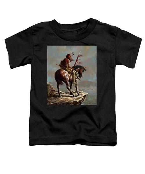 Crazy Horse_digital Study Toddler T-Shirt