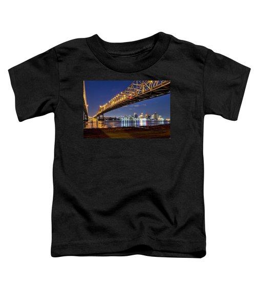 Crescent City Bridge, New Orleans Toddler T-Shirt