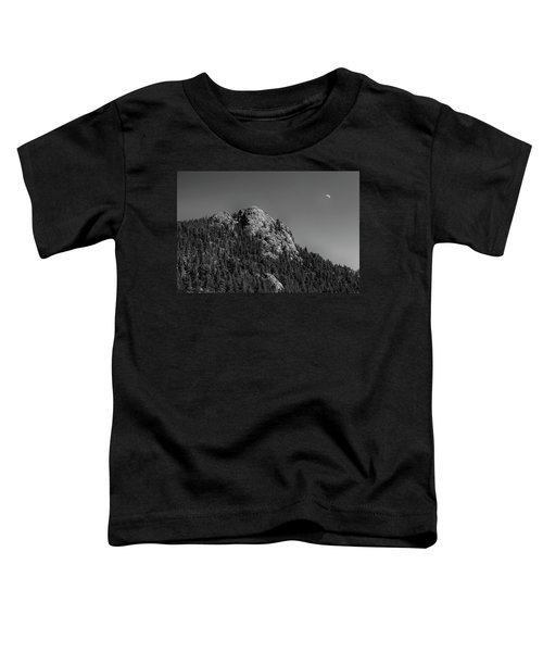 Toddler T-Shirt featuring the photograph Crescent Moon And Buffalo Rock by James BO Insogna