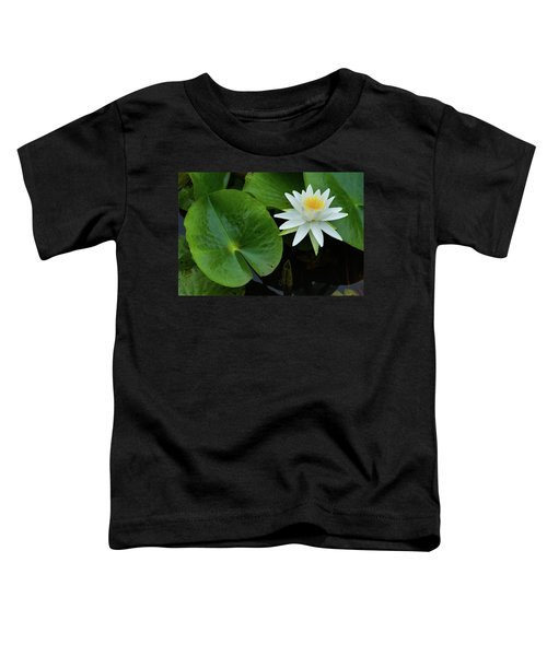 Crisp White And Yellow Lily Toddler T-Shirt