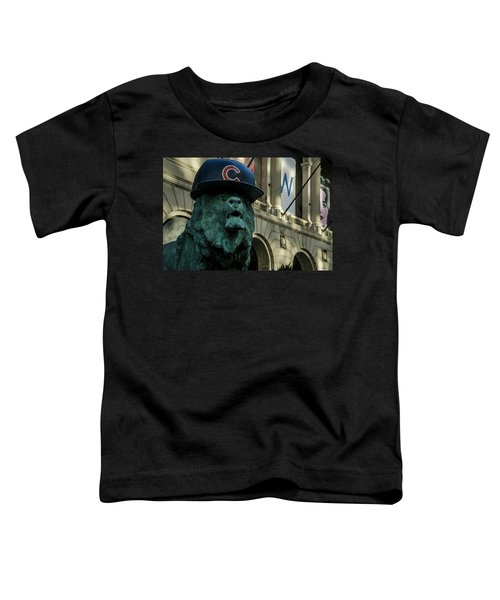 Cub Hat On Art Institute Lion Telephoto Toddler T-Shirt