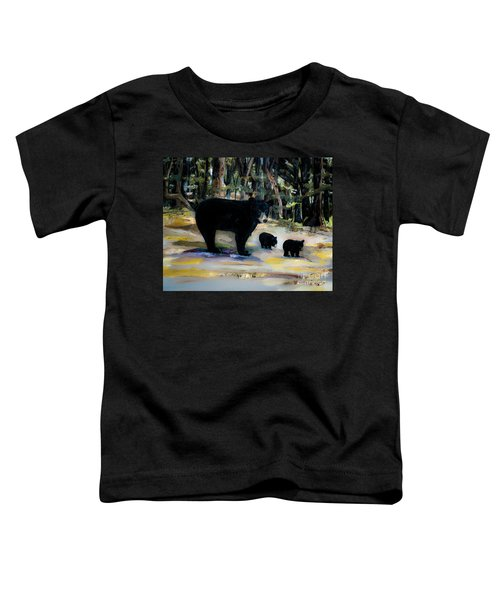 Cubs With Momma Bear - Dreamy Version - Black Bears Toddler T-Shirt