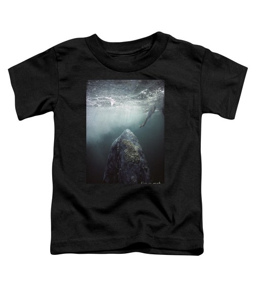 Curious Gray Whale And Tourist Toddler T-Shirt