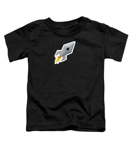 Cute Metal Rocket Ship Toddler T-Shirt