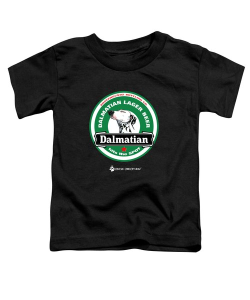 Dalmatian Lager Beer Toddler T-Shirt by John LaFree