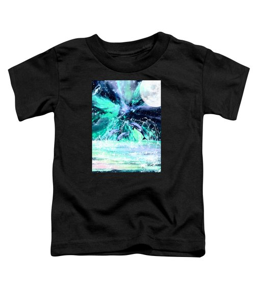 Dancing Dolphins Under The Moon Toddler T-Shirt