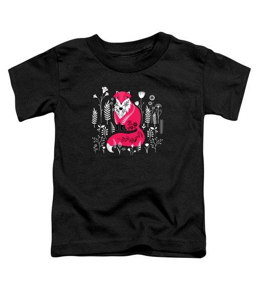 Dancing Forest Woodland Folk Fox Toddler T-Shirt