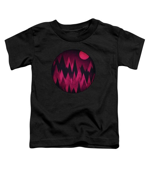 Dark Triangles - Peak Woods Abstract Grunge Mountains Design In Red Black Toddler T-Shirt