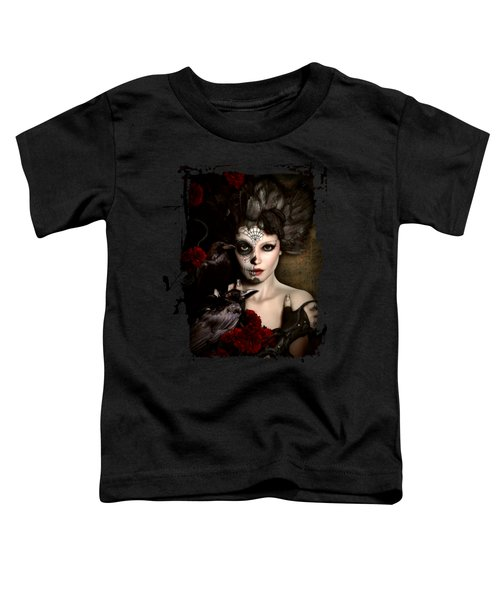 Darkside Sugar Doll Toddler T-Shirt by Shanina Conway