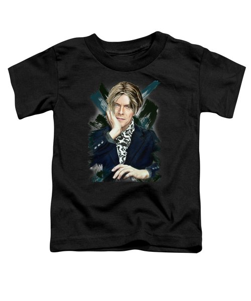 David Bowie Toddler T-Shirt by Melanie D