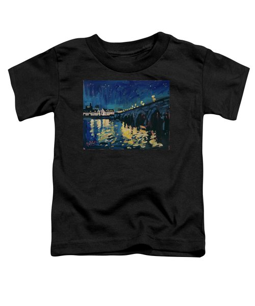 December Lights At The Old Bridge Toddler T-Shirt by Nop Briex
