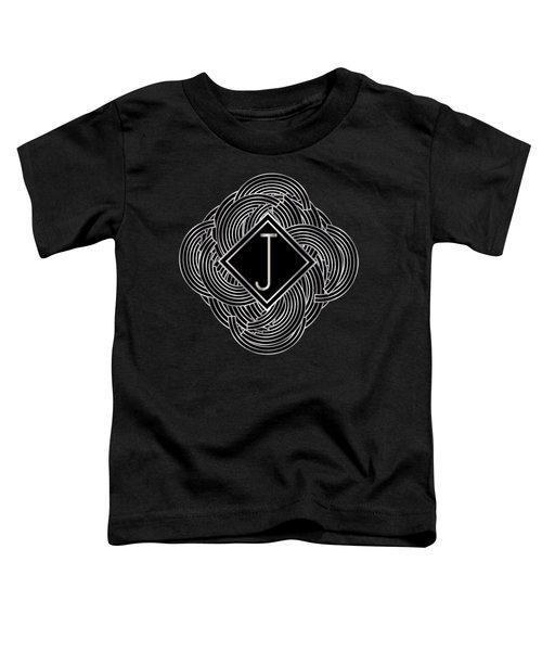 Deco Jazz Swing Monogram ...letter J Toddler T-Shirt