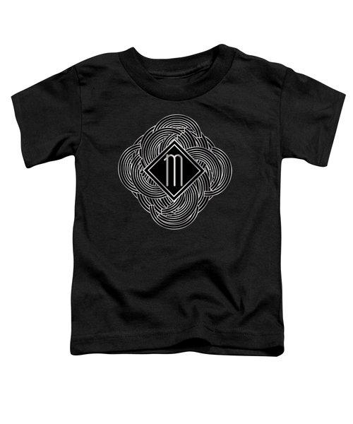 Deco Jazz Swing Monogram ...letter M Toddler T-Shirt
