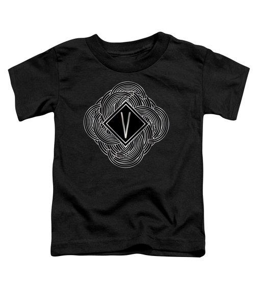 Deco Jazz Swing Monogram ...letter V Toddler T-Shirt