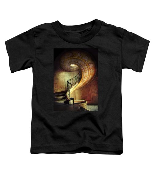 Toddler T-Shirt featuring the photograph Decorated Spiral Staircase  by Jaroslaw Blaminsky