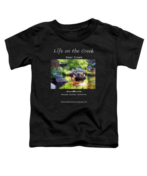 Deer Creek Ferns - White Text Toddler T-Shirt