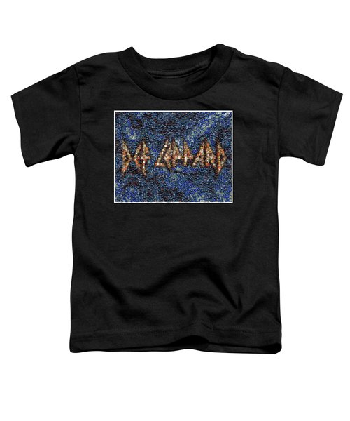 Def Leppard Albums Mosaic Toddler T-Shirt by Paul Van Scott