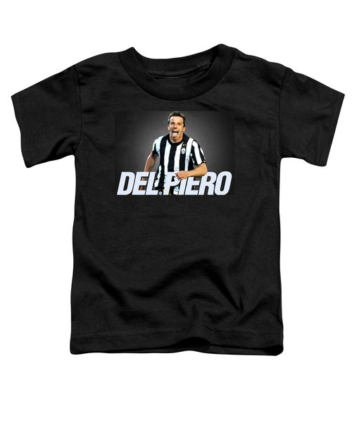 Del Piero Toddler T-Shirt by Semih Yurdabak