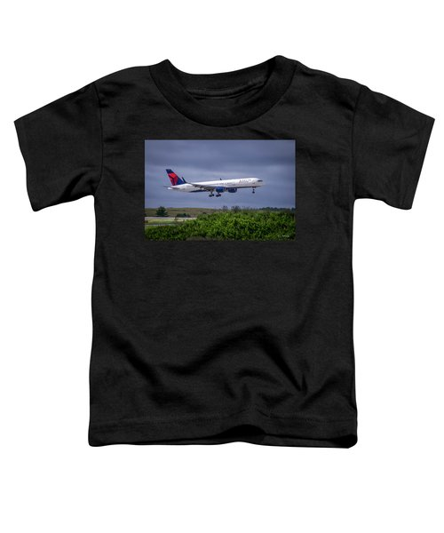 Delta Air Lines 757 Airplane N557nw Art Toddler T-Shirt