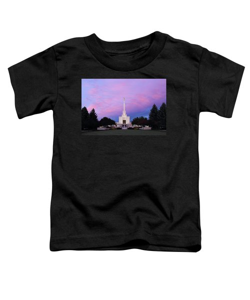 Denver Lds Temple At Sunrise Toddler T-Shirt