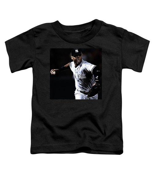 Derek Jeter Toddler T-Shirt by Paul Ward