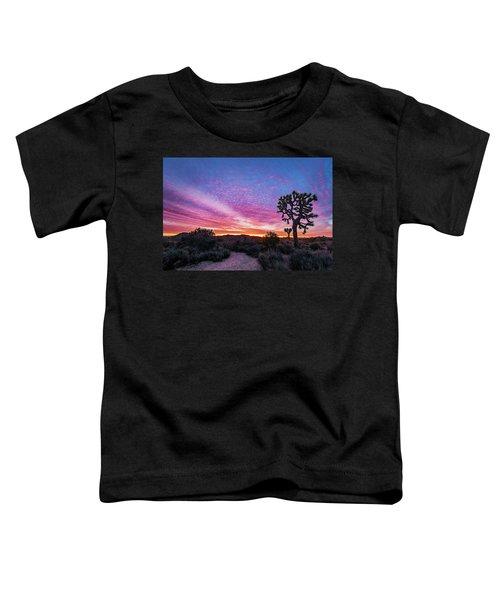 Desert Sunrise At Joshua Tree Toddler T-Shirt