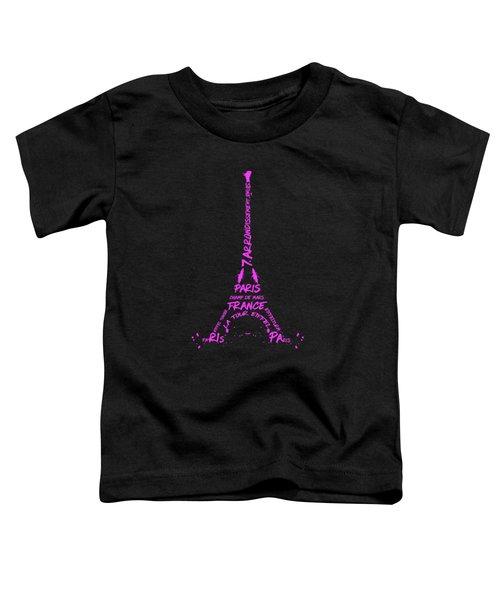 Digital-art Eiffel Tower Pink Toddler T-Shirt