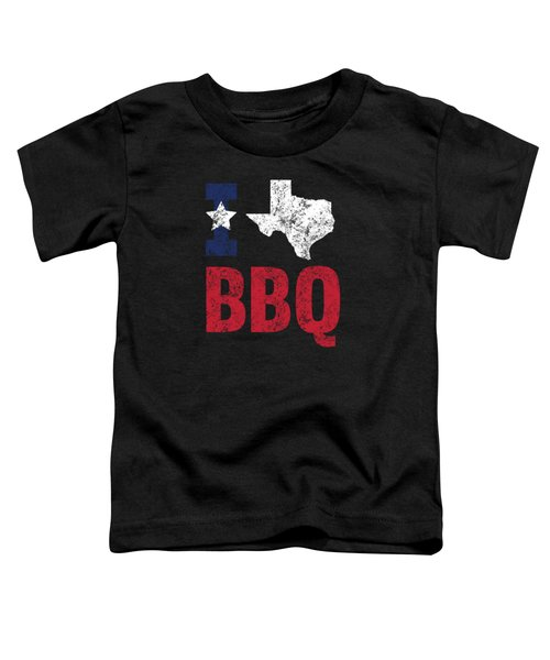 Distressed Love Bbq Texas Barbecue Gift Toddler T-Shirt