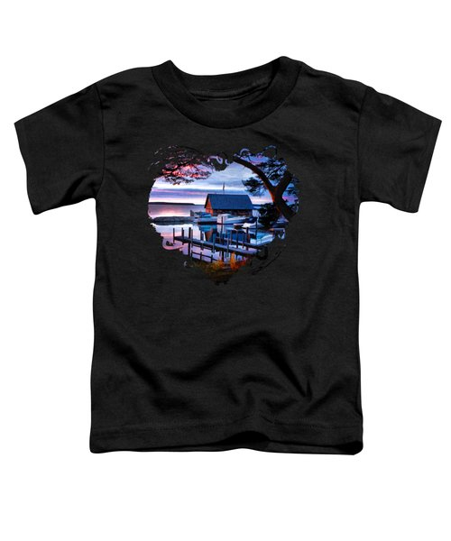 Door County Anderson Dock Sunset Toddler T-Shirt by Christopher Arndt