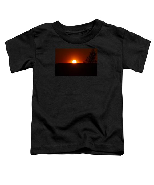 Dramatic Sunset View From Mount Tom Toddler T-Shirt