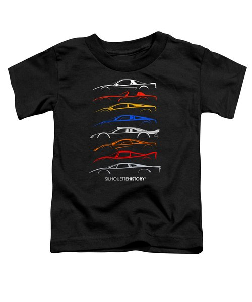 Dreamcars Of 90s Silhouettehistory Toddler T-Shirt