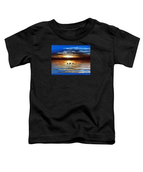 Ducks On Clear Lake Toddler T-Shirt