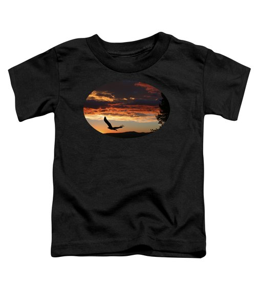 Eagle At Sunset Toddler T-Shirt
