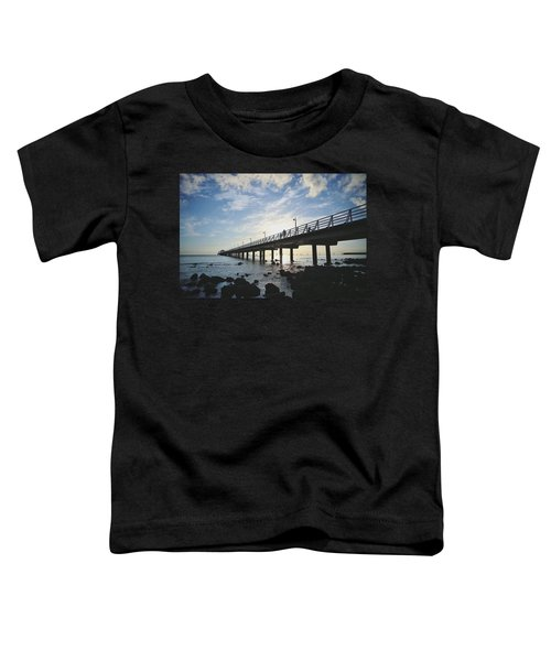 Early Morning At The Pier Toddler T-Shirt
