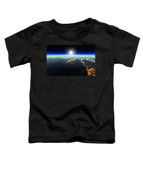 Earth Sunrise From Outer Space Toddler T-Shirt