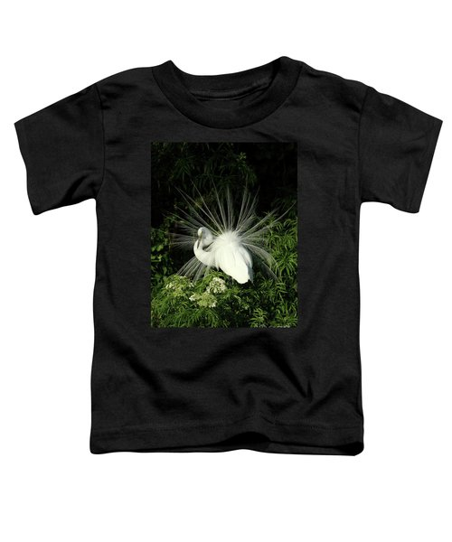 Egret Fan Dancer Toddler T-Shirt